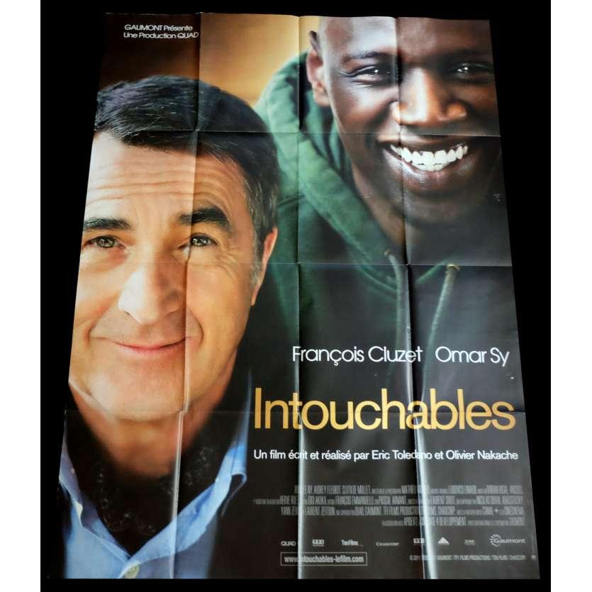 INTOUCHABLES Affiche de film 120x160 - 2011 - Omar Sy, Nakache et Toledano
