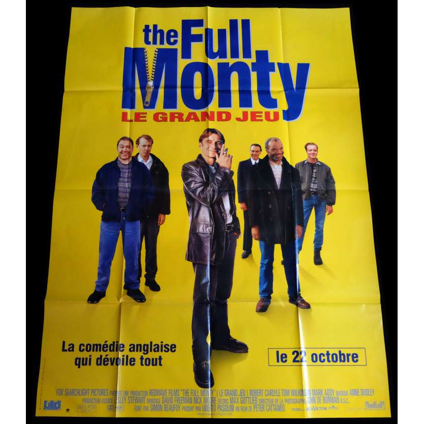 THE FULL MONTY Affiche de film 120x160 - 1997 - Robert Carlyle, Peter Cattaneo