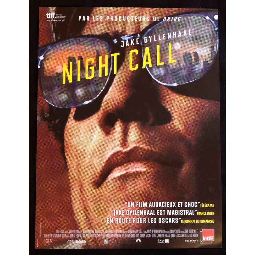 NIGHT CALL Affiche de film 40x60 - 2014 - Jake Gyllenhaal, Dan Gilroy