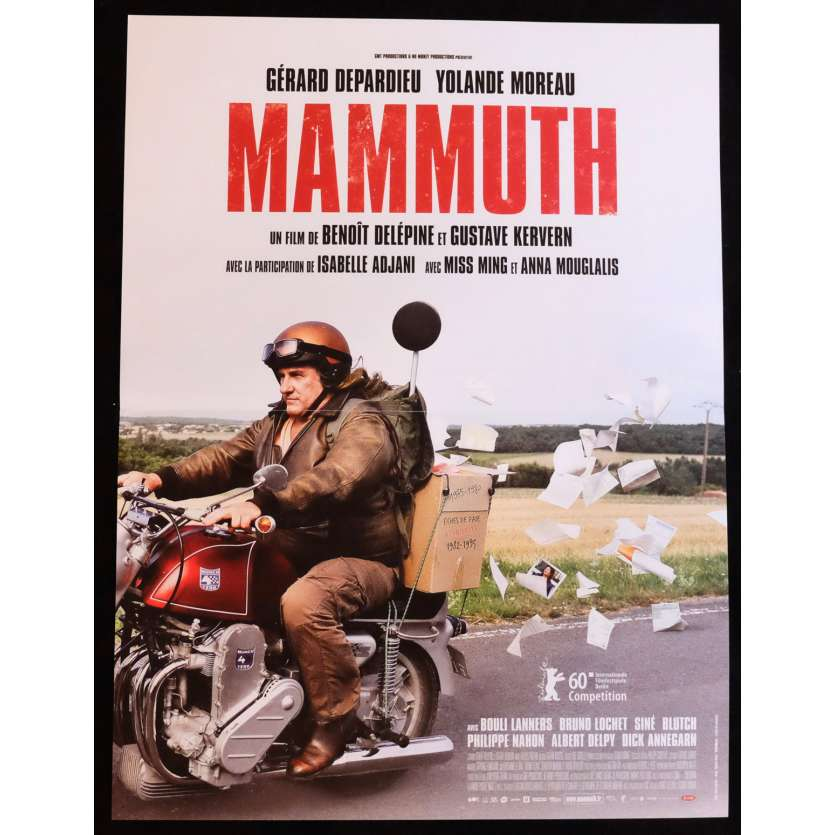 MAMMUTH French Movie Poster 15x21 - 2010 - Gustave Kevern, Gérard Depardieu