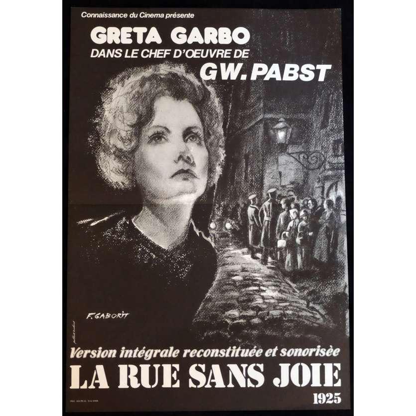 LA RUE SANS JOIE Mod. A Affiche de film 40x60 - 1999 - Greta Garbo, G. W. Pabst