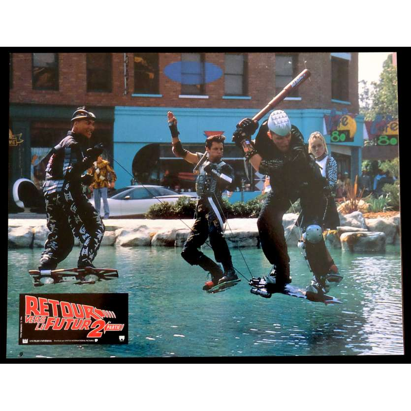 BACK TO THE FUTURE II French Lobby Card N5 9x12 - 1989 - Robert Zemeckis, Michael J. Fox