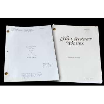 HILL STREET BLUES US Lot of 2 TV Script 9x12 - 1982 - Steven Bochko, Daniel J. Travanti