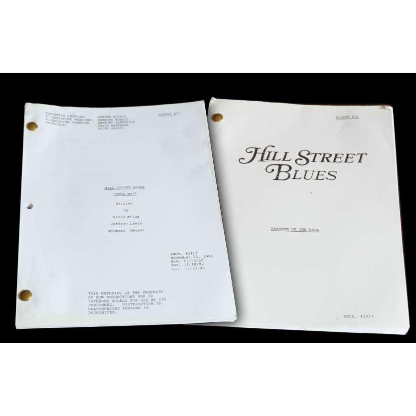 HILL STREET BLUES - CAPITAINE FURILLO Lot de 2 scénarios 21x30 - 1982 - Daniel J. Travanti, Steven Bochko
