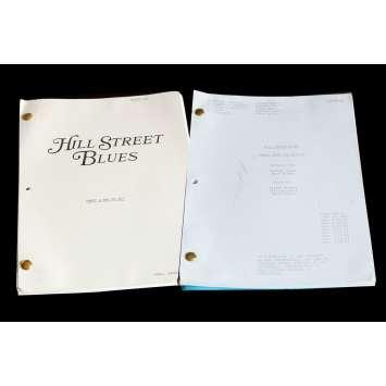 HILL STREET BLUES US Lot of 2 TV Script 9x12 - 1984 - Steven Bochko, Daniel J. Travanti