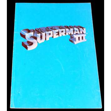 SUPERMAN III French Program 9x12 - 1983 - Richard Donner, Christopher Reeves -
