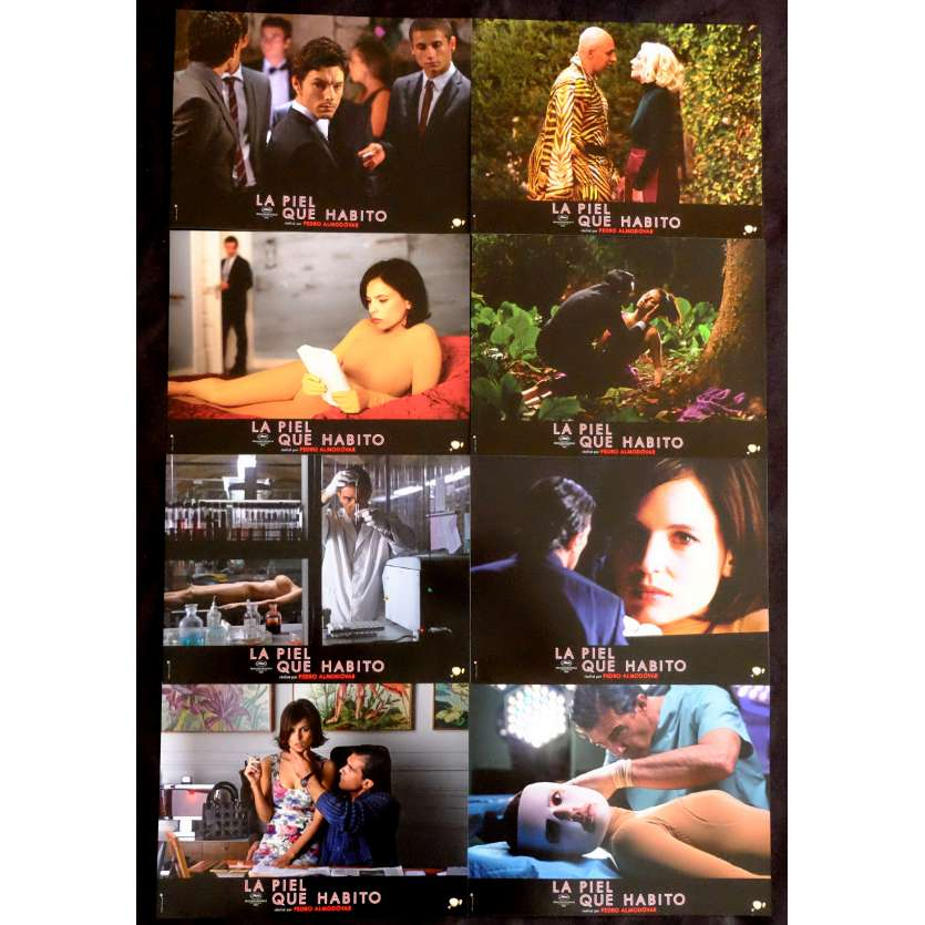 THE SKIN I LIVE IN French Lobby Cards 9x12 - 2011 - Pedro Almodovar, Antonio Banderas