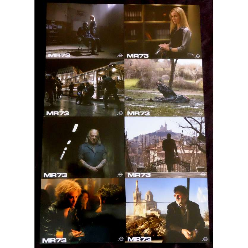 MR 73 French Lobby Cards 9x12 - 2008 - Olivier Marchal, Daniel Auteuil