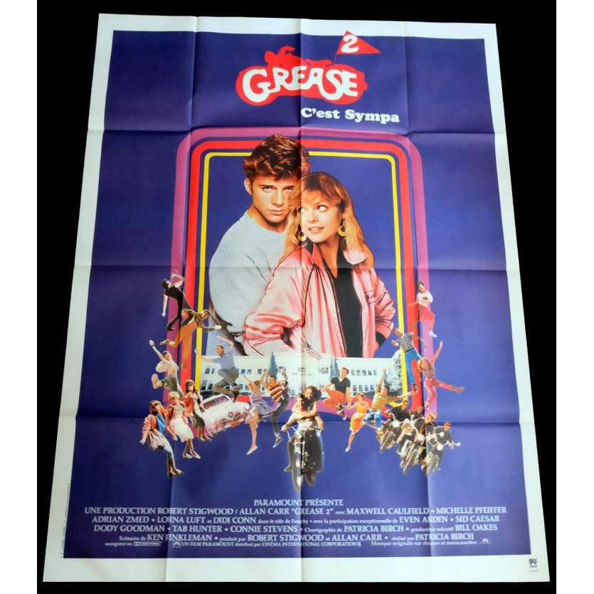 GREASE 2 French Movie Poster 47x63 - 1982 - Patricia Birch, Michele Pfeiffer
