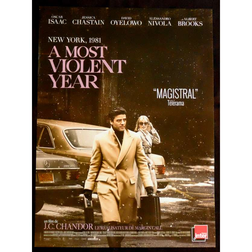 A MOST VIOLENT YEAR French Movie Poster 15x21 - 2015 - J.C. Chandor, Oscar Isaac