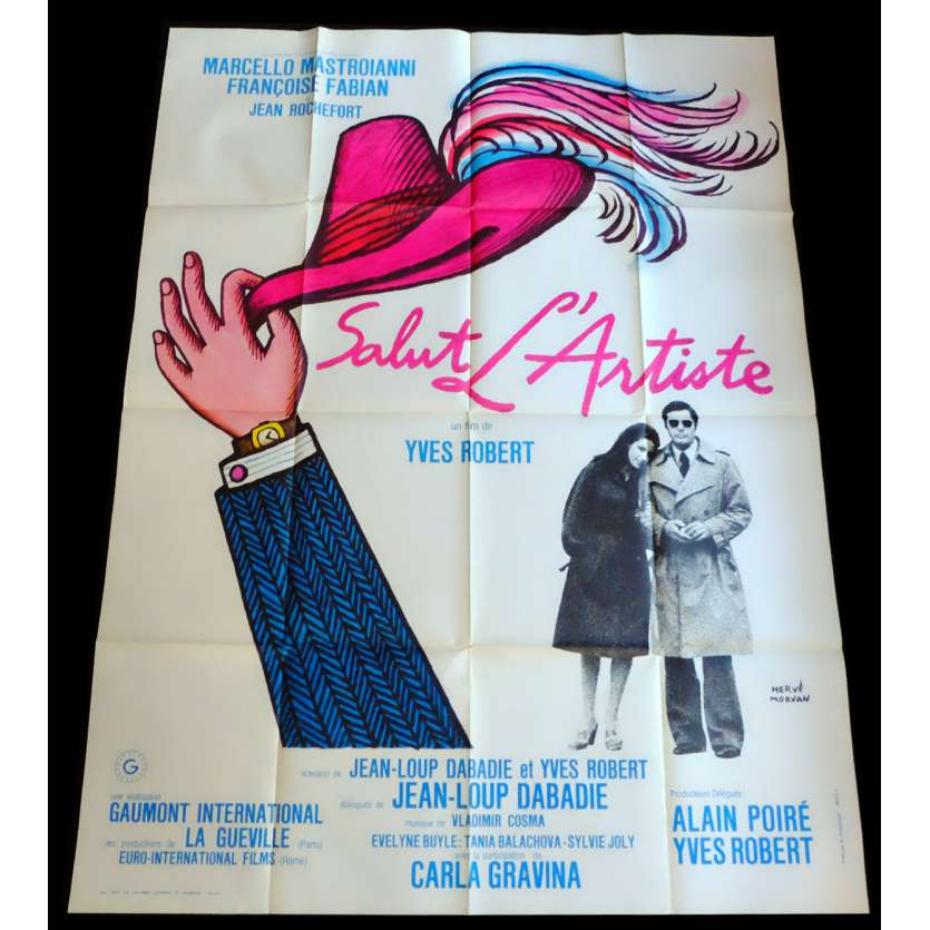 HAIL THE ARTIST French Movie Poster 47x63 - 1973 - Yves Robert, Marcello Mastroianni