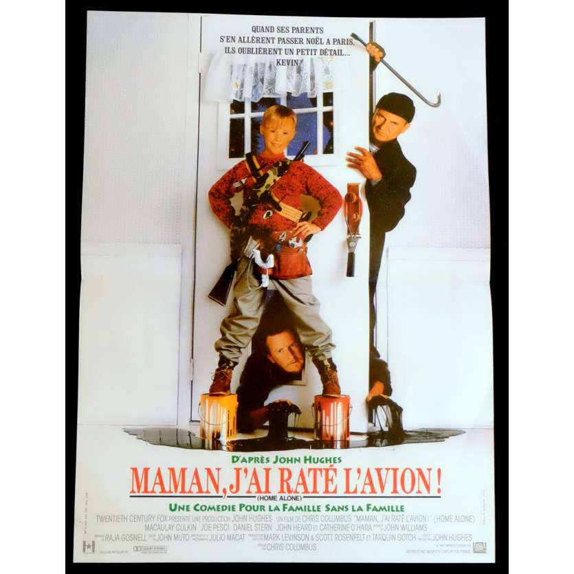 MAMAN J'AI RATE L'AVION Affiche de film 40x60 - 1990 - Macauley Culkin, Chris Colombus
