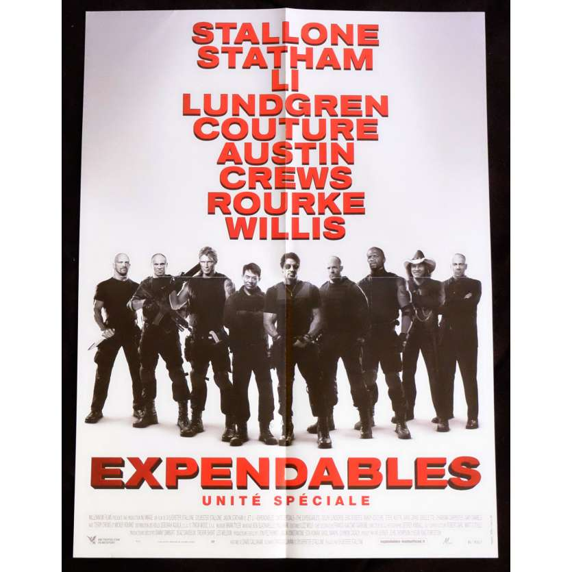 THE EXPENDABLES Affiche de film 40x60 - 2010 - Jason Statham, Sylvester Stallone