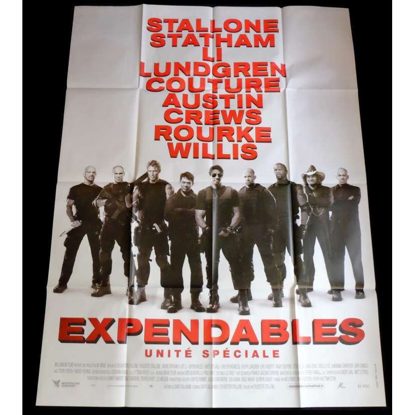 THE EXPENDABLES Affiche de film 120x160 - 2012 - Jason Statham, Sylvester Stallone