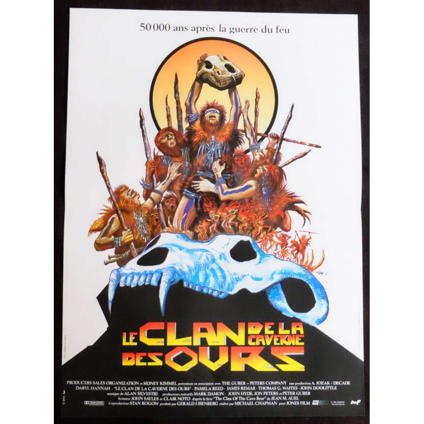 THE CLAN OF THE CAVE BEAR French Movie Poster 15x21 - 1986 - Micahel Chapman, Daryl Hannah