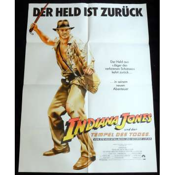 INDIANA JONES AND THE TEMPLE OF DOOM German Movie Poster 36x48 - 1984 - Steven Spielberg, Harrison Ford