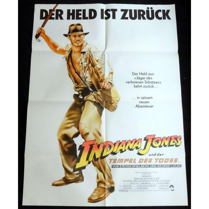 INDIANA JONES ET LE TEMPLE MAUDIT Affiche de film 90x120 - 1984 - Harrison Ford, Steven Spielberg