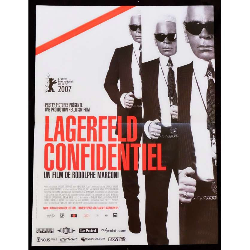 LAGERFELD CONFIDENTIAL French Movie Poster 15x21 - 2007 - Rodolphe Marconi, Nicole Kidman
