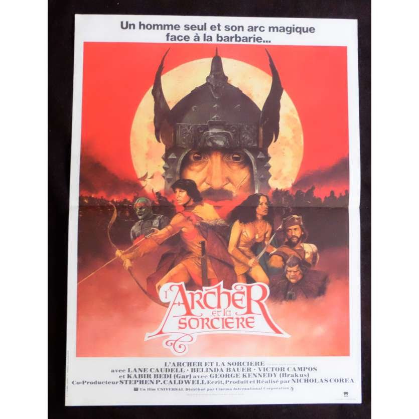 THE ARCHER AND THE SORCERESS French Movie Poster 15x21 - 1981 - Nicholas Corea, Lane Caudell