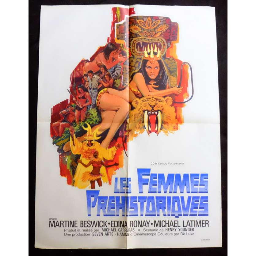 PREHISTORIC WOMEN French Movie Poster 23x32 - 1967 - Michael Carreras, Edina Ronay