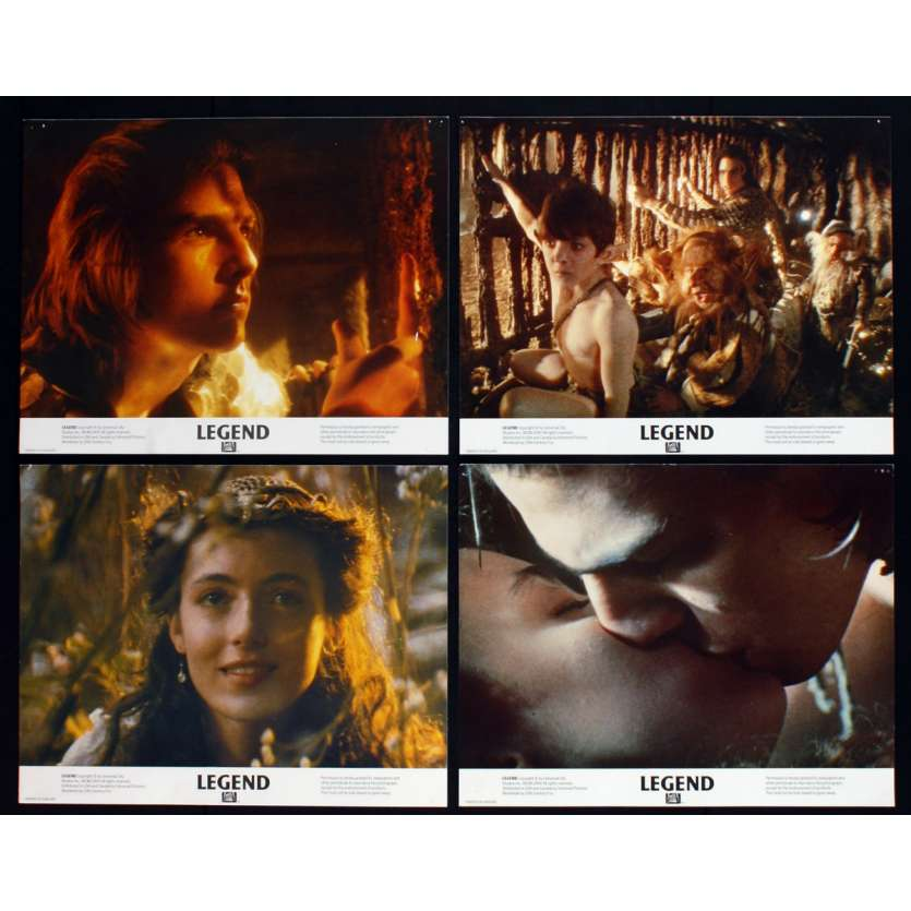 LEGEND British Lobby Cards X8 11x14 - 1986 - Ridley Scott, Tom Cruise