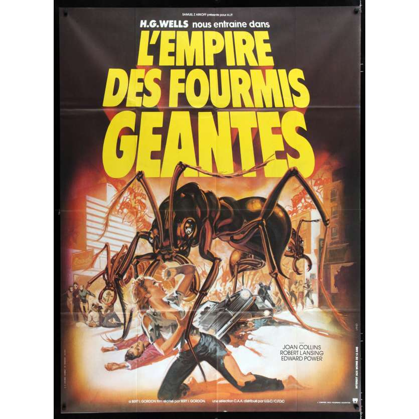 EMPIRE OF THE ANTS French Movie Poster 47x63 - 1977 - Bert I. Gordon, Joan Collins