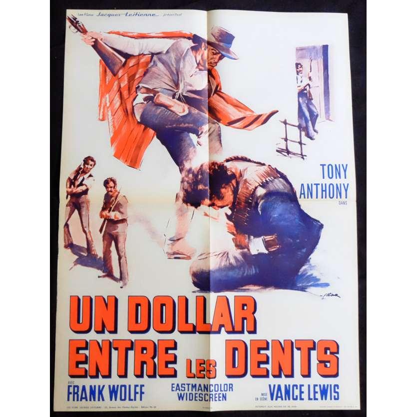 UN DOLLAR ENTRE LES DENTS Affiche de film 60x80 - 1967 - Tony Anthony, Luigi Vanzi