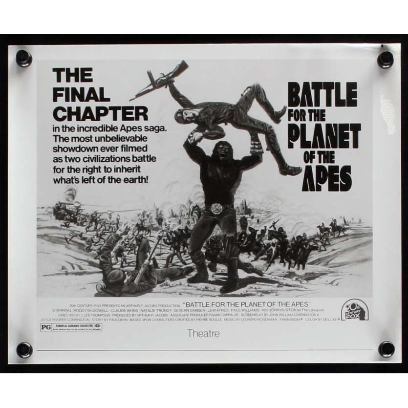 LA BATAILLE DE LA PLANETE DES SINGES Photo de presse N4 20x25 - 1973 - Roddy McDowall, J. Lee Thompson