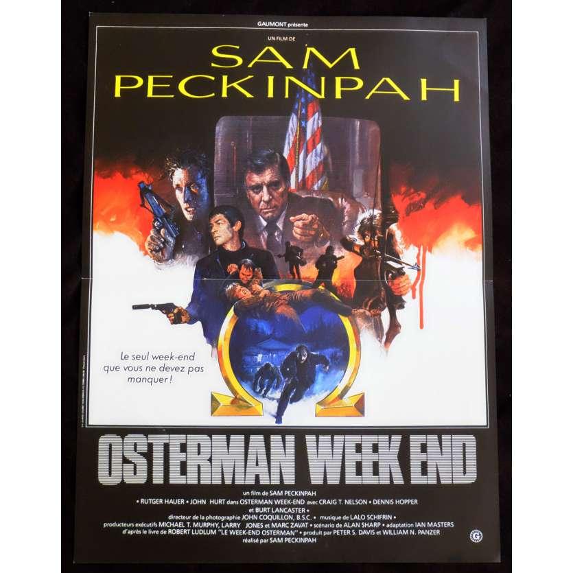 OSTERMAN WEEKEND Affiche de film 40x60 - 1983 - Rutger Hauer, Sam Peckinpah