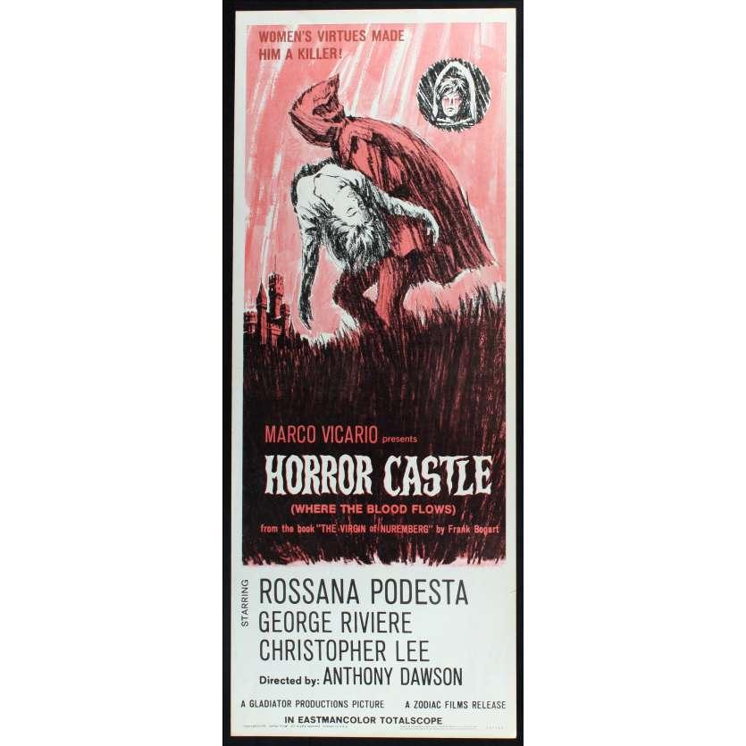 HORROR CASTLE US Movie Poster 29x41 - 1963 - Antonio Margheriti, Rossana Podestà