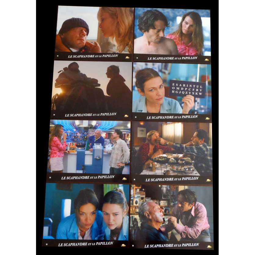 THE DIVING BELL AND THE BUTTERFLY French Lobby Cards 9x12 - 2007 - Julian Schnabel, Mathieu Amalric