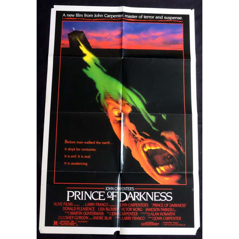 PRINCE DES TENEBRES Affiche de film 69x104 - 1987 - Donald Pleasence, John Carpenter