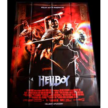 HELLBOY Style B Affiche de film 120x160 - 2004 - Ron Perlman, Guillermo Del Toro