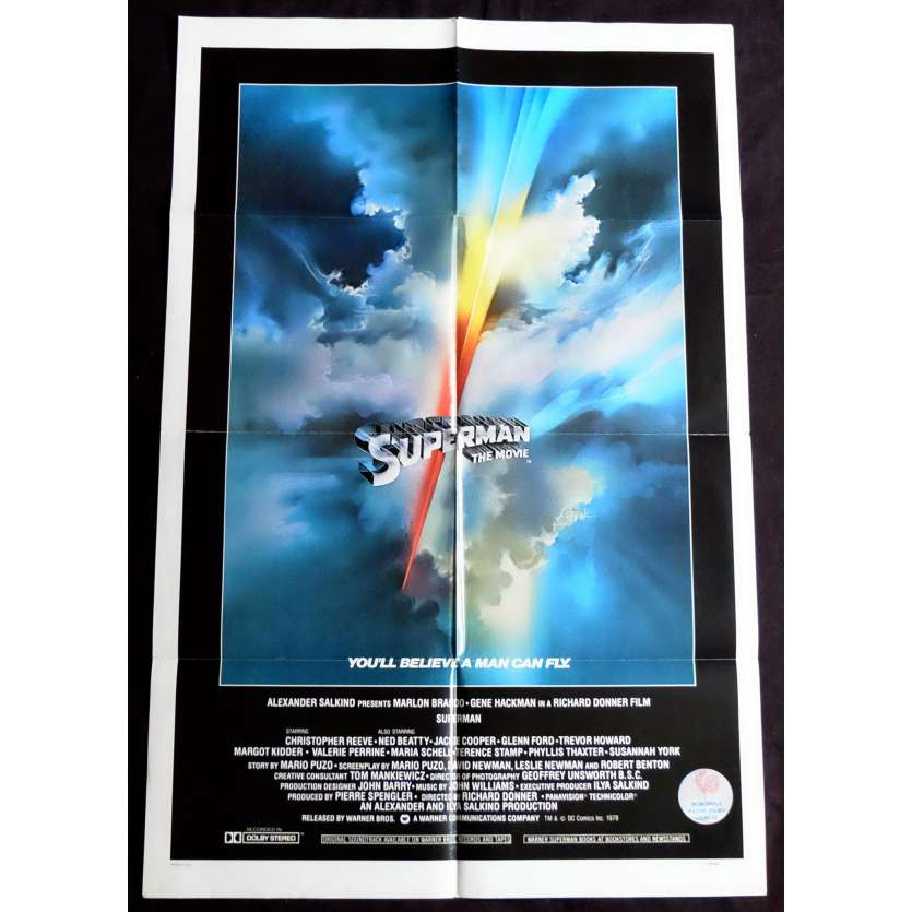 SUPERMAN Affiche de film Intl. 69x104 - 1978 - Christopher Reeves, Richard Donner