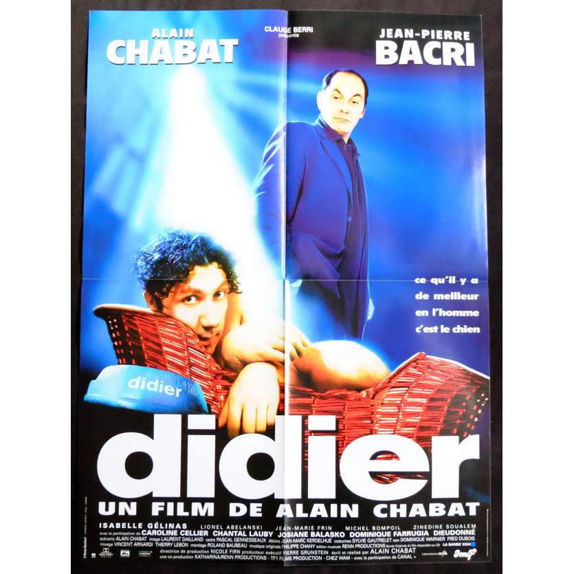 DIDIER French Movie Poster 23x32 - 1997 - Alain Chabat, Jean-Pierre Bacri