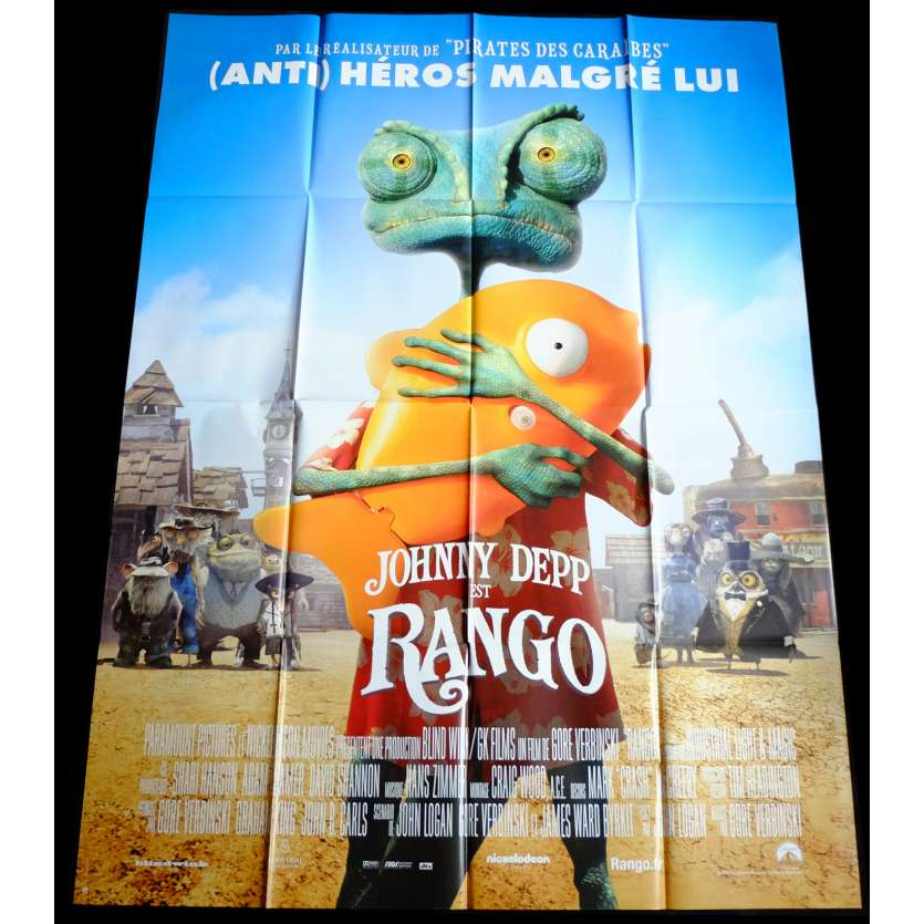 RANGO Affiche de film 120x160 - 2011 - Johnny Depp, Gore Verbinski