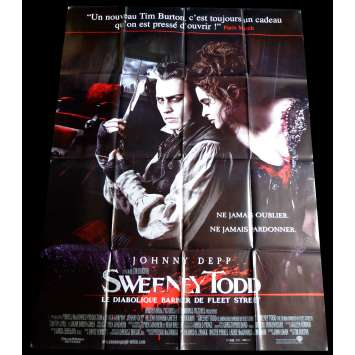 SWEENEY TODD Affiche de film 120x160 - 2007 - Johnny Depp, Tim Burton