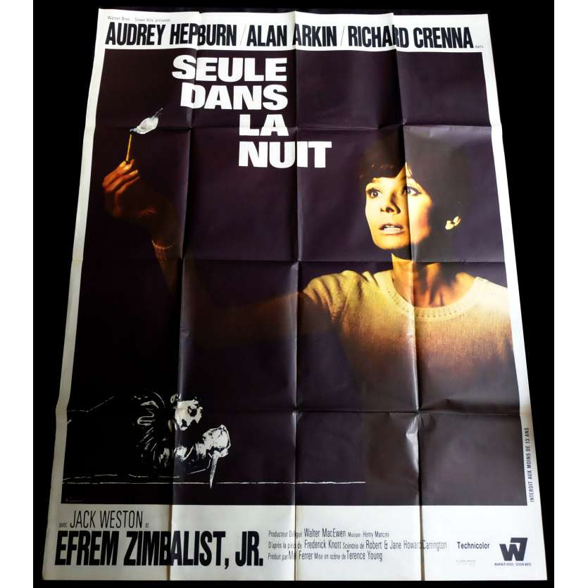 ALONE IN THE DARK French Movie Poster 47x63 - 1967 - Terence Young, Audrey Hepburn