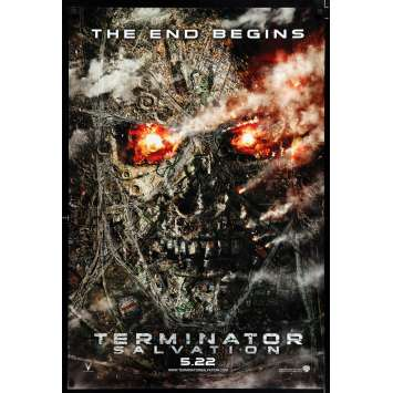 TERMINATOR SALVATION teaser US Movie Poster 29x41 - 2009 - McG, Christian Bale