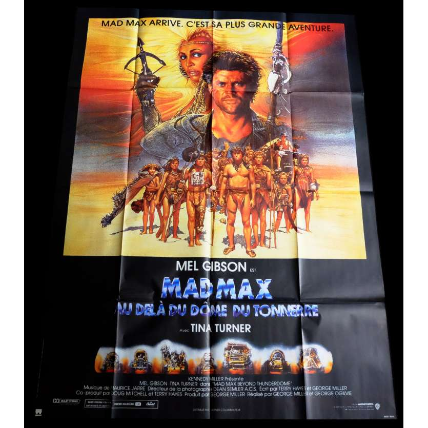 MAD MAX 3 French Movie Poster 47x63 - 1985 - George Miller, Mel Gibson