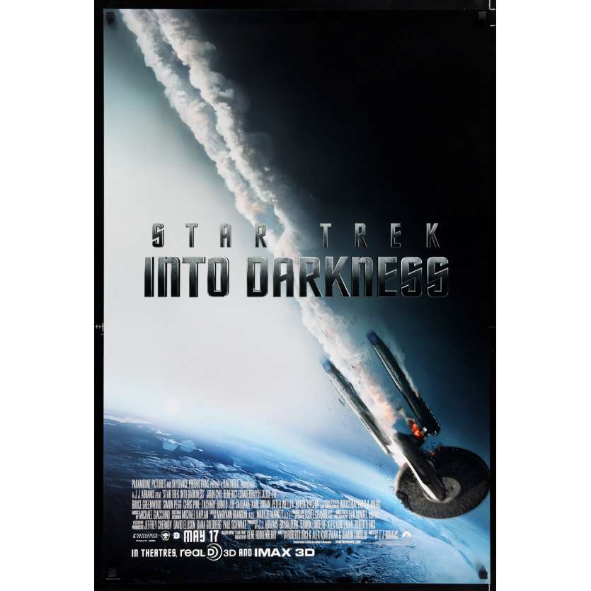 STAR TREK INTO DARKNESS int'l advance US Movie Poster 29x41 - 2013 - J. J. Abrams, Benedict Cumberbatch
