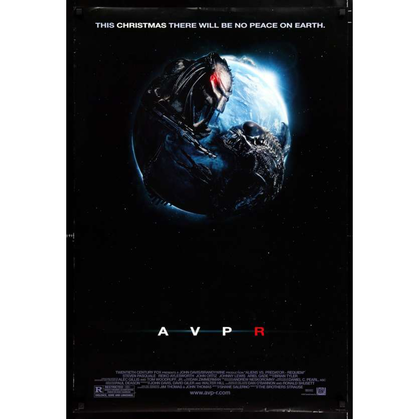 ALIENS VS. PREDATOR: REQUIEM style A advance US Movie Poster 29x41 - 2007 - Colin Strause, Kristen Hager