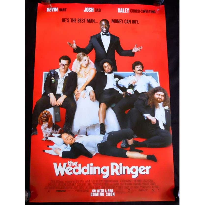THE WEDDING RINGER US Movie Poster 29x41 - 2015 - Jeremy Garelick, Kevin Hart