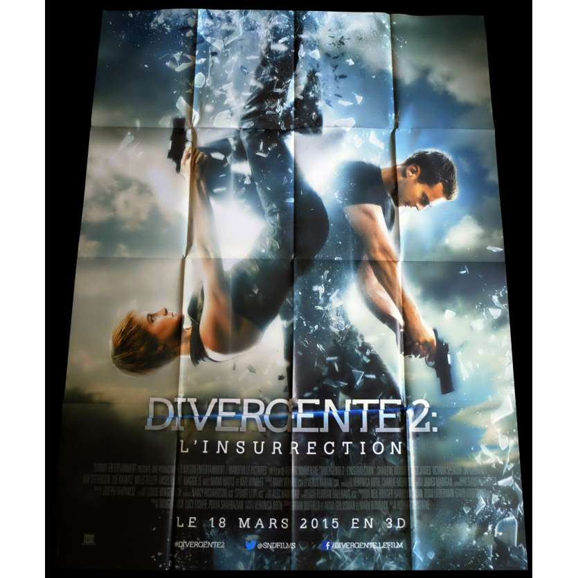 INSURGENT French Movie Poster 47x63 - 2015 - Robert Schwentke, Shailene Woodley