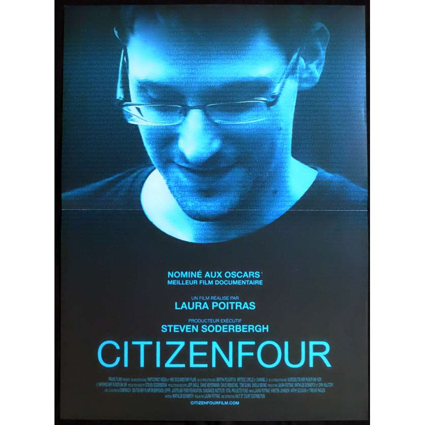 CITIZENFOUR Affiche de film 40x60 - 2015 - Edward Snowden, Laura Poitras