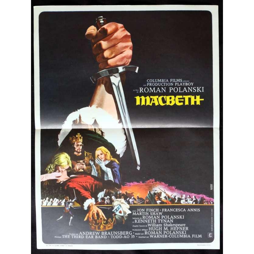MACBETH French Movie Poster 15x21 - 1971 - Roman Polanski, Jon Finch