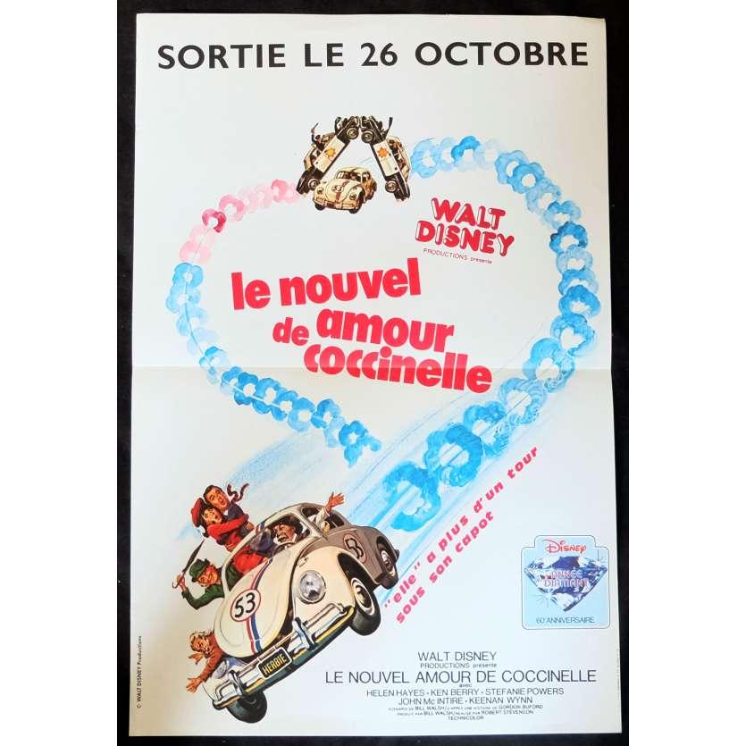 UN NOUVEL AMOUR DE COCCINELLE Affiche de film 40x60 - 1974 - Stephanie Powers, Walt Disney