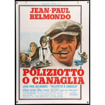 COP OR HOOD Italian Movie Poster 49x55 - 1979 - George Lautner, Jean-Paul Belmondo