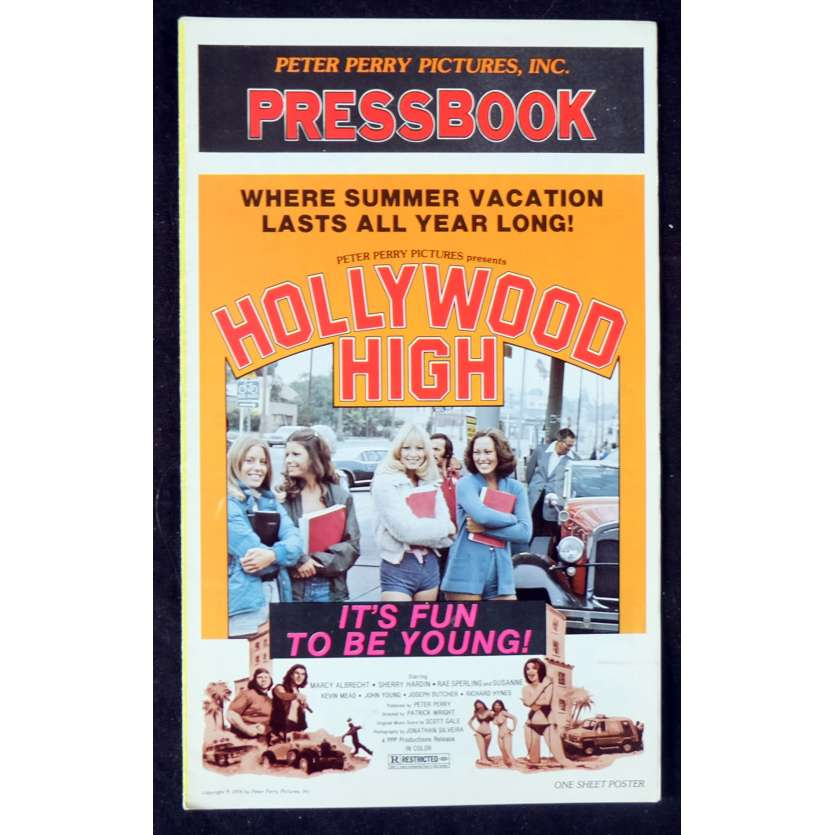 HOLLYWOOD HIGH Dossier de presse 28x43 - 1976 - Susanne Severeid, Patrick Wright