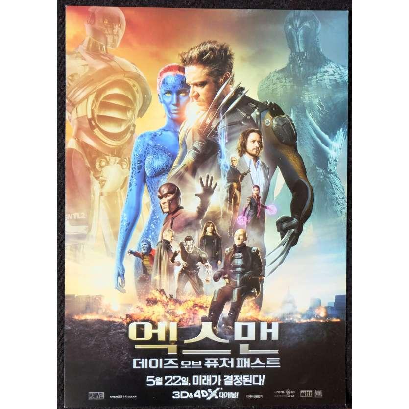 XMEN DAYS OF THE FUTURE PAST Korean Herald 7x10 - 2013 - Bryan Singer, Hugh Jackman